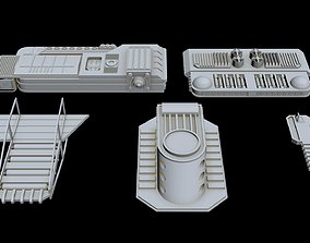 3D model Starship Greeble collection 1