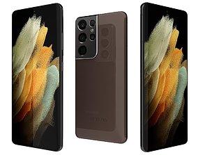 3D Samsung Galaxy S21 5G Ultra Phantom Brown