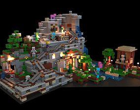 3D model VR / AR ready Lego Minecraft