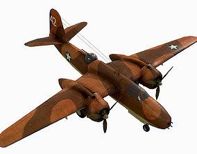 3D model United States light bomber Douglas A-20 Havoc