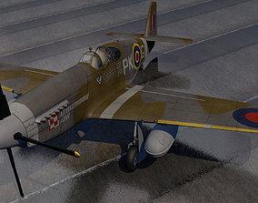 North American Mustang Mk-3 - RAF military 3D model