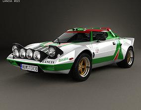 Lancia Stratos Rally 1972 3D model