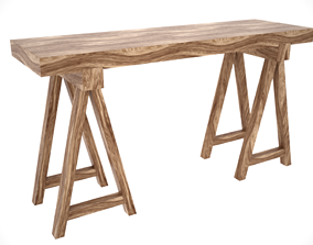 Table Console Scandinavian style 3D model