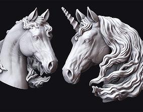 Horse and Unicorn Head 3D printable model