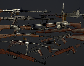 Ultimate ww2 weapons pack 3D asset
