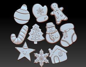 Christmas Cookies For Decor dessert 3D print model