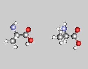 Alanine molecule 3D model