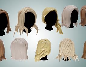 3D model Base Haircuts 6-10 free sample