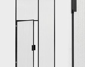 3D model Glass partition door 100
