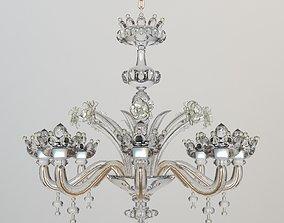 3D model Ornate Crystal Chandelier