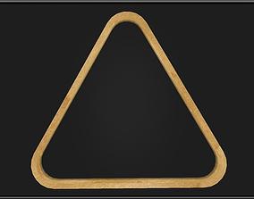 3D asset Billiard Triangle Rack
