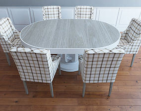 table with chairs set 3D model