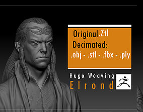 Hugo Weaving - Elrond - The Lord if the 3D printable model
