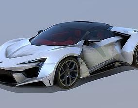 low-poly W Motors Fenyr Super Sport 3D Model