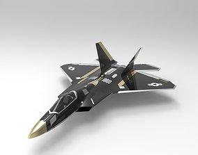 Jet F-22 3D asset