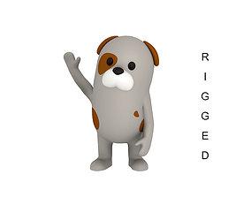 Rigged Cartoon Dog 3D