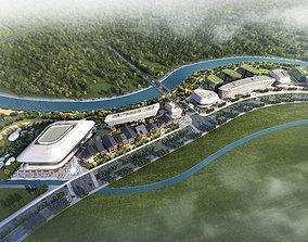 3D model Airport Commercial Center 002