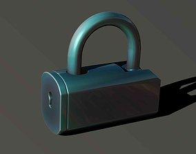 3D printable model simple lock 2