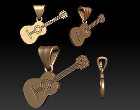 stratocaster Guitar pendant 3D print model