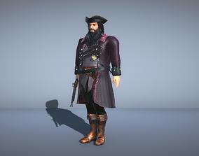 3D model Pirate Captain