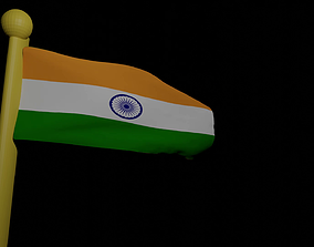 3D animation video of Indian flag from blender