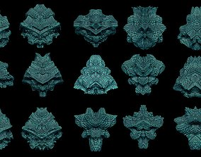 15 fractal symmetry 3D printable model pendant