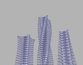 stories building 3D model