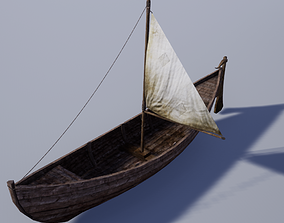 Pack of Medieval Wooden Boats 3D asset