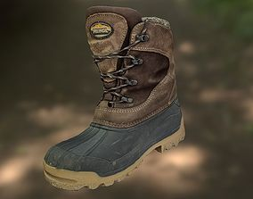 game-ready boot Boot 3D model low poly