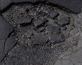 3D model Hole on the road