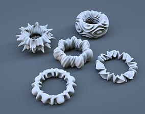 3D print model Organic Torus Set
