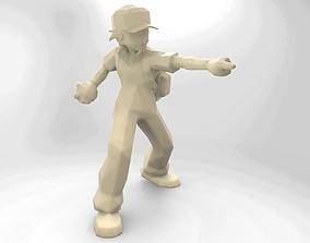 3D print model Pokemon trainer