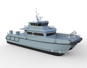 Complated Catamaran Patrol Boat 3D