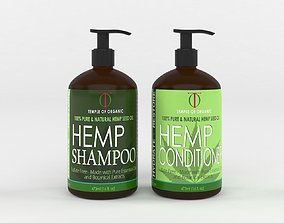 3D model Hemp Hydrate Shampoo and Conditioner