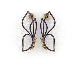 Elegant Earrings 3D printable model