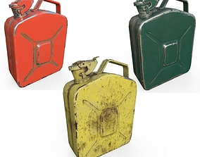 3D asset Set fuel cans PBR