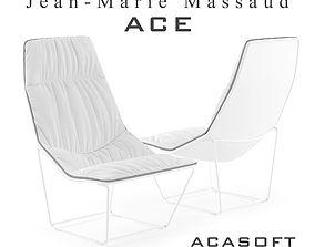 3D model Ace armchair 1