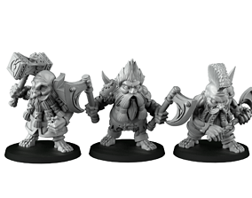 group of dwarf slayer 3D printable model