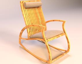 rocking 3D model Aria Teak Rocking Chair