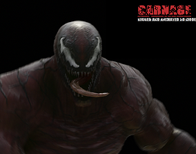 Carnage Rigged And Animated 3D model realtime