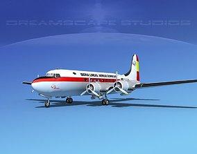Douglas DC-4 Iberia 3D model
