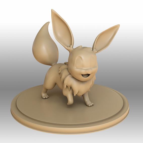 Eevee - Pokemon 3D print model