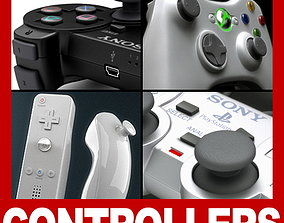 Video Game Controllers and Gamepads 3D model