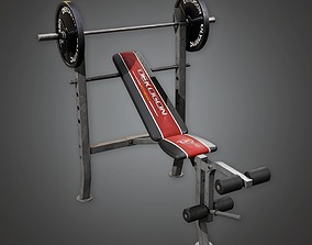 3D asset Weight Lifting 01a - Sports And Gym
