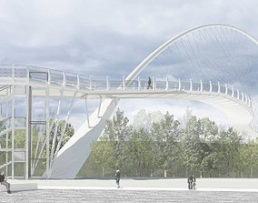 arch bridge 3d modell