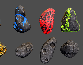 Asteroids -Meteorite PBR Low-poly 3D model low-poly
