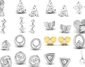 huggies 100 Women earrings 3dm render detail
