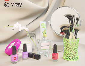 accessories cosmetic set 3D