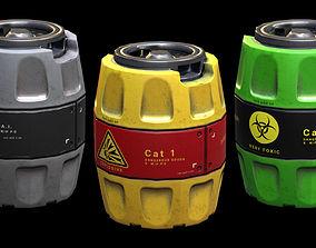 3D asset Realistic Barrels Pack PBR
