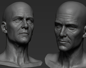 Male face 50 year old Base sculpt 3D model